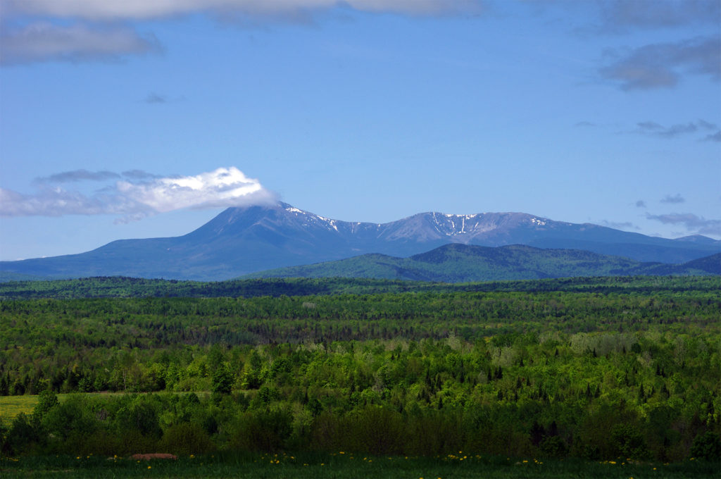 (Mount) Katahdin Maine. View From Ash Hill near Patten Maine. Photo by Thierry Bonneville