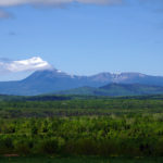 Mount Katahdin Maine. View From Ash Hill near Patten Maine. Photo by Thierry Bonneville