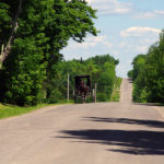 Amish buggy on the Happy Corner Road South of Patten (Photograph: Thierry Bonneville)
