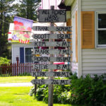 All Roads Lead Home. Cool sign in Stacyville, ME (Photograph: Thierry Bonneville)