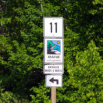 Katahdin Woods Scenic Byway Signage (Photograph: Thierry Bonneville)