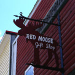 Red Moose Gift Shop sign in Patten Maine (Photography: Thierry Bonneville)