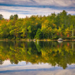 Early autumn reflections, Maine.