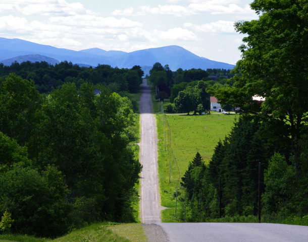 Happy Corner Road near Patten Maine (Photograph: Thierry Bonneville)