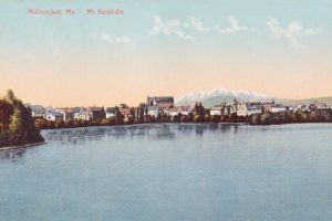Millinocket: 1906 postcard published by the Hugh C. Leighton Company, Portland, Maine (Public Domain)