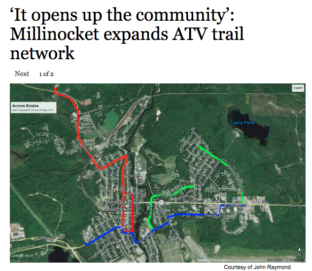 Millinocket ATV Trail Network Expanded (Source BDN) - Katahdin Woods ...